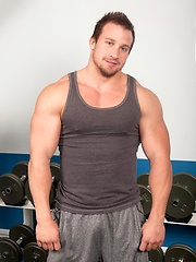 Hunter Manning strokes it and you can see each muscle group flex and give