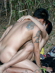 Japanese boys have anal bareback in the woods