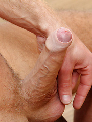 Hunky Josh Wanks His Uncut 8 inch Dick
