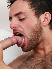 Rough lad Lincoln Gates breaks in the new hunky and hairy cock hound Riley Tess