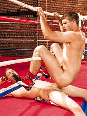 Two kickboxers have anal after training
