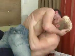 Dominic Brown pays a visit to Max London who gets a blowjob then gets to rim and fuck Dominic's hot ass.