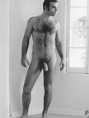 Retro shoots of hairy gay dude