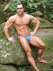 Argentinian bodybuilding champion photo session