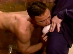 Couple of guys fucking ass and mouth of lucky gay