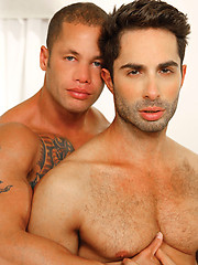Hungry dudes Matthew Rush and Michael Lucas have each other holes