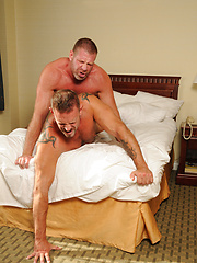 Two rough daddies Lee and Colin barebacking each other