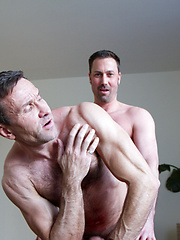 Dad sucks and swallows buddys tool with great pleasure