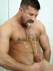 Kyle King uses Lucas Exclusive gay model Tate Ryders mouth as a urinal