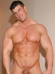 Hot and naked pool player Zeb Atlas