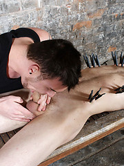 Sean is given a handjob and blowie from his enamored captor