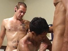 Horny newcomer Danny Rohm takes on Christian and Gabriel dicks