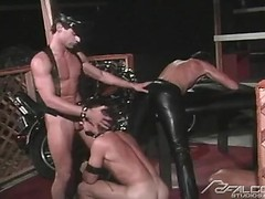 Spokes II: Vintage leather threesome