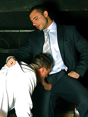 Gay groupsex at office