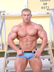 Greg Jones shows his perfect muscled body